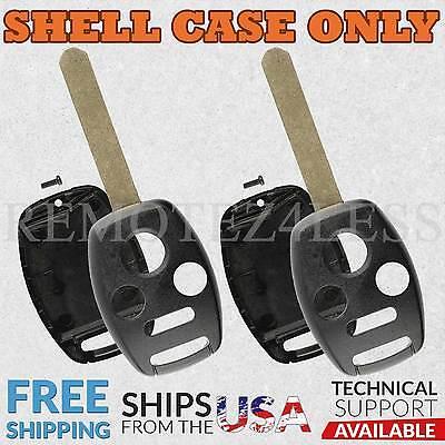 2 for Honda Accord Civic CR-V Keyless Remote Car Key Fob Shell Case 4b slot