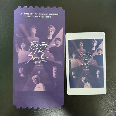 Official Photocard BTS Bring the soul Ticket + Card