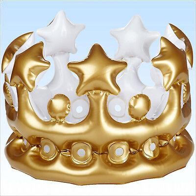 Erwachsenen Kronen (Aufblasbare Krone für Erwachsene König Königin Goldene Hochzeit 50. Geburtstag)