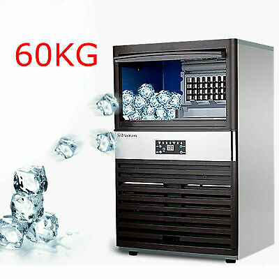 130lbs Built-in Commercial Ice Maker Undercounter Freestand Ice Cube Machine Us