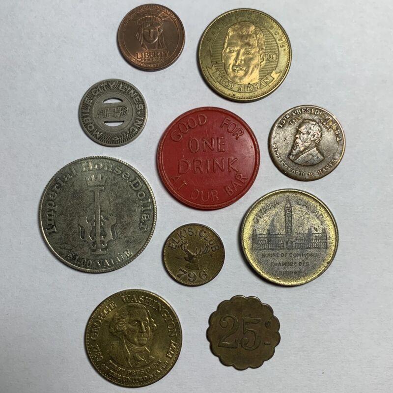 10 Piece Lot Random Medal and Tokens