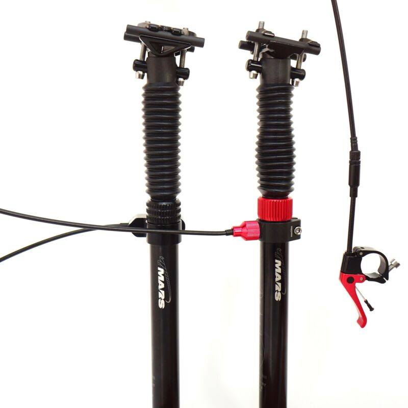 TMARS 419L or S 27.2x400mm Mechanical Bike Bicycle Dropper Seatpost with Remote