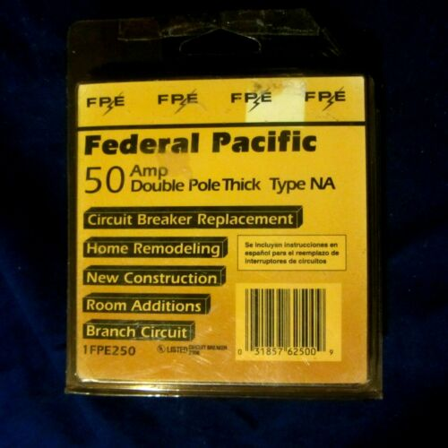 FPE Federal Pacific NA250 Stab-Lok 50 Amp 2 Pole 50A 2P Circuit Breaker THICK
