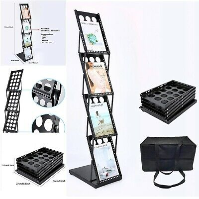 Four Pocket Display Rack For Brochure Magazine Catalog Literature Floor Holder