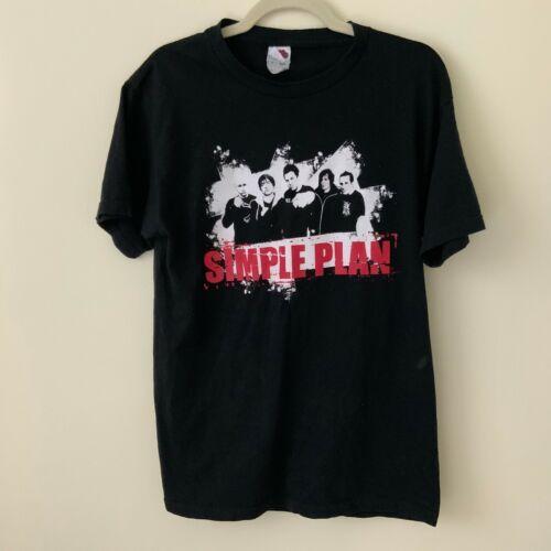 SIMPLE PLAN US Tour 2005 FRUIT OF THE LOOM T-Shirt Black Size Medium Graphics