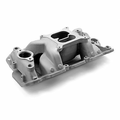 SBC SMALL BLOCK CHEVY 4 Barrell Aluminum Intake Open Plenum Design 350,383