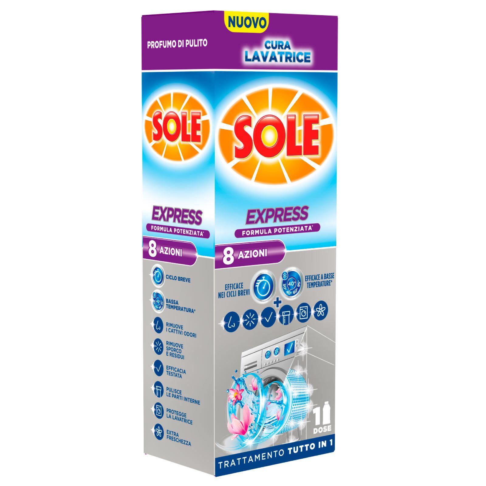 4,49 € per Sole Cura Lavatrice Express Igienizzante Liquido Lavatrice 250ml• su eBay.it