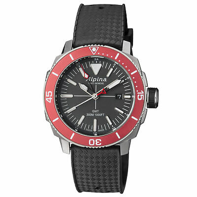Alpina Seastrong Diver GMT Quartz Grey Dial Men's Watches AL247LGBRG4TV6