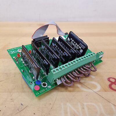 Fwc Ma 5598-a 8 Channel Io Relay Board - Used