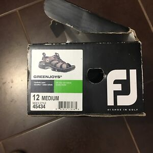 Men's FootJoy /Greenjoys Golf Sandals with cleats size 12