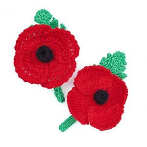 Poppy Knitting  Pattern AND Crochet Pattern - British Legion * 2 In 1 *