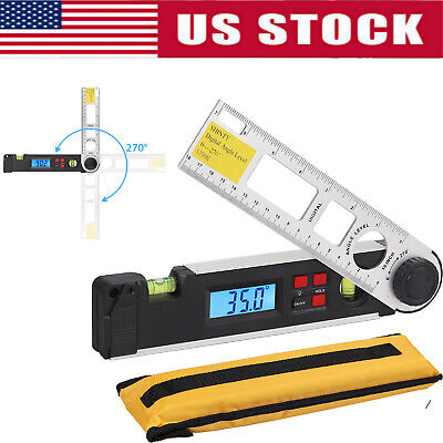 0270 Electronic Digital Level Angle Finder Goniometer Protractor Gauge Ruler