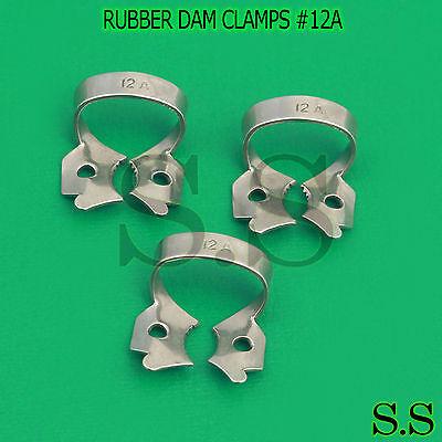 3 Endodontic Rubber Dam Clamps 12a Dental Instruments