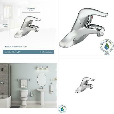 Chateau 4 in. Centerset Single Handle Low-Arc Bathroom Faucet in Chrome wit
