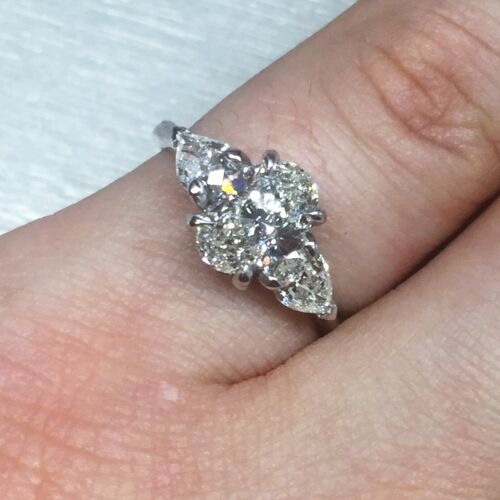 1.69 CARAT I VS2 GIA CERTIFIED OVAL CUT DIAMOND ENGAGEMENT RING SET IN PLAT 950 1