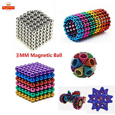 216Pcs 3mm Mini Magic Magnets Ball Neodymium Sphere Puzzle Cube Stress Relief