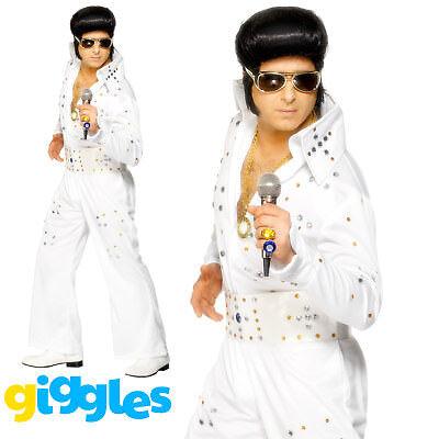 Elvis Presley Jewelled Jumpsuit Costume Rock Star Suit - Elvis Outfit