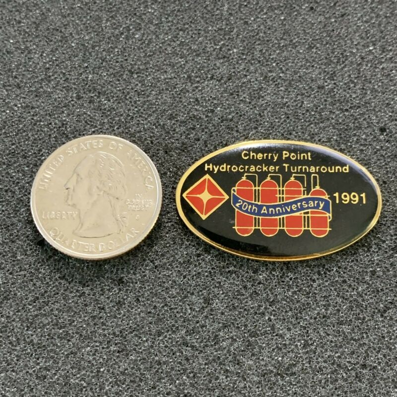 1991 BP Cherry Point Hydrocracker Turnaround Washington Oil Gas Pin Pinback