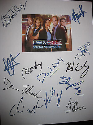 Law & Order SVU Signed TV Script X12 Mariska Hargitay Christopher Meloni reprint
