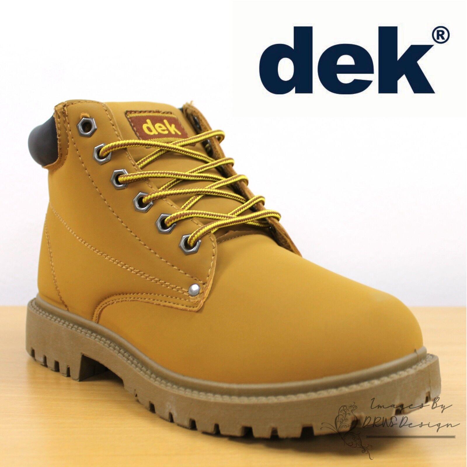 DEK Oasis Men/'s Dessert Shoes Honey Synth Nubuck Urban Casual Yellow Boots