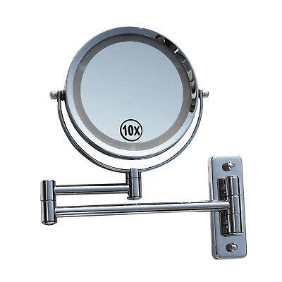 LED Licht Doppel Schminkspiegel Make up Spiegel Kosmetikspiegel 10-fach