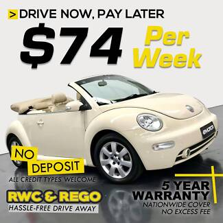 Drive NOW Pay LATER-$74pw-inc 5yr warranty-VW Beetle convertible Williamstown North Hobsons Bay Area Preview