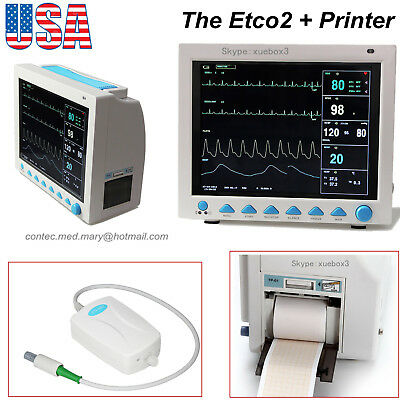 Cms8000 With Capnograph Printer 12.1icu Patient Monitor Co2 Vital Signscontec