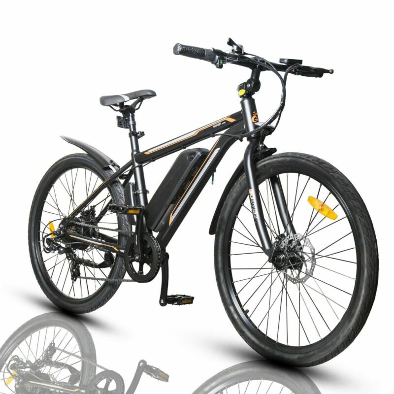 "26""36V 350W Litium ION Electric Bicycle e-Bike Shimano 7 speed Removable Battery"