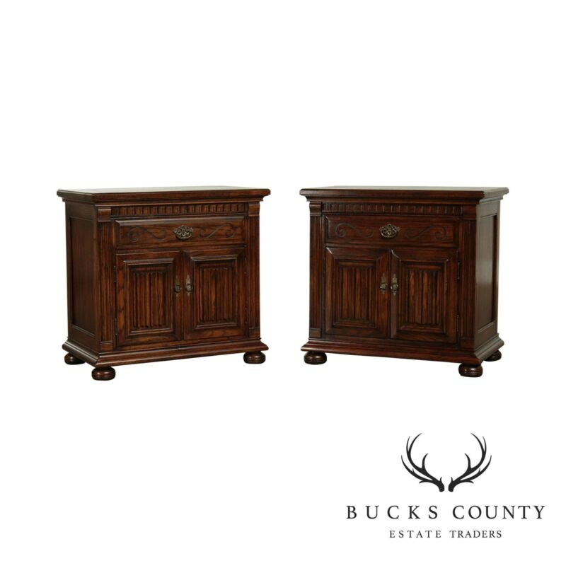 Ethan Allen Royal Charter Oak Pair Nightstands
