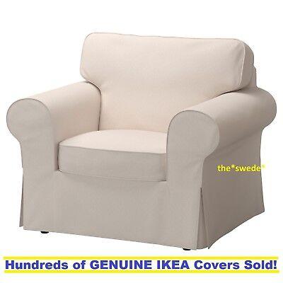 Ikea EKTORP Armchair (Chair) Slipcover Cover NORDVALLA DARK BEIGE New in Box!