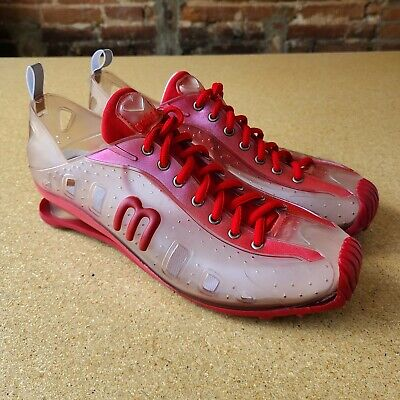Grendene Love Melissa Red & Clear Jelly Lace Up Sneakers Size 10 US 42 EU 40 BRA
