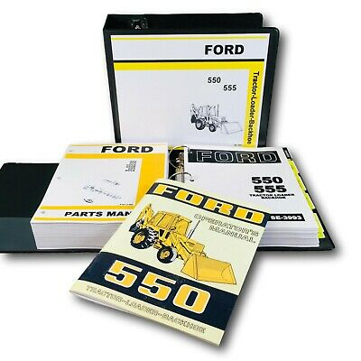 Ford 550 Tractor Loader Backhoe Service Parts Operators Manual Repair Overhaul