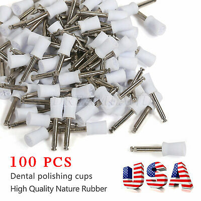 100 Pcs Dental Polishing Prophy Prophylaxis Cups Latch Type Rubber Polisher