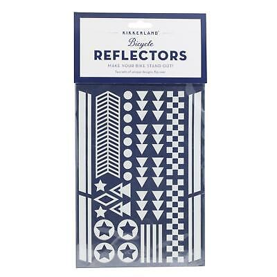 Kikkerland Bike Reflector Stickers Bicycle Reflective High Vis Decoration Shapes