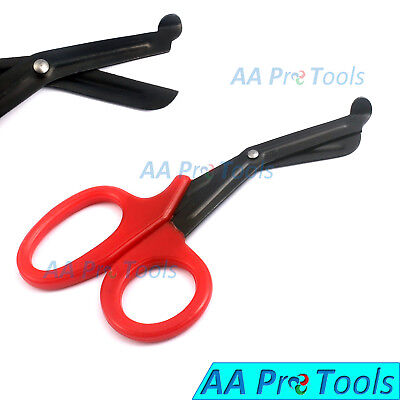 Red Emt And Trauma Shears 7.5 Fluoride Coated Blades Medical Scissors 1-pack