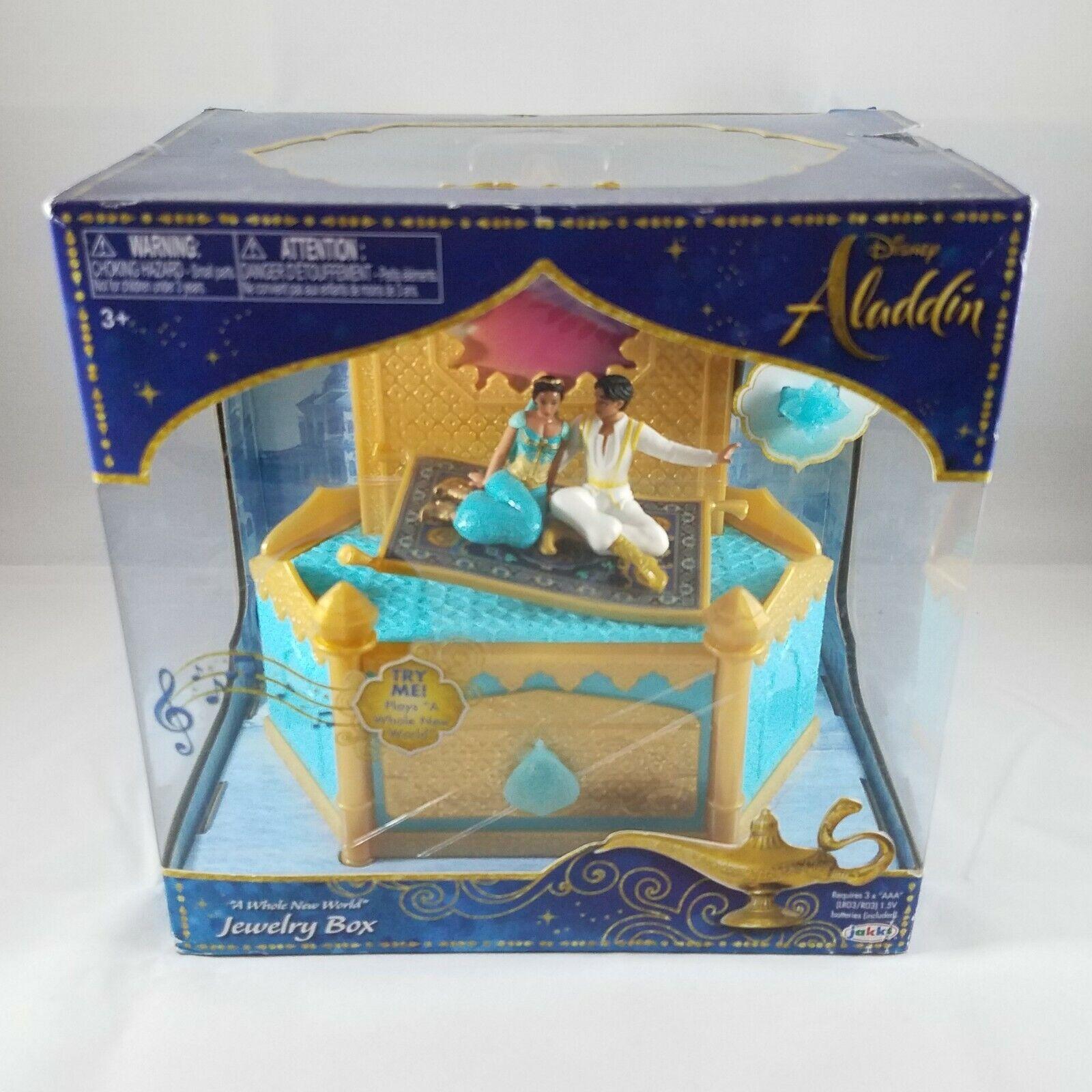 "Disney Aladdin /""A Whole New World/"" Musical Jewelry Box New in Box"