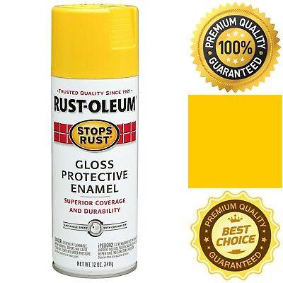 Stop Rust Metal (Rust-Oleum Stops Rust Spray Paint 12-Ounce Gloss Yellow Wood Metal Fresh Shine )