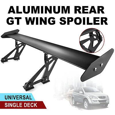 Universal Sedan Aluminum GT Rear Trunk Wing Racing Spoiler Black