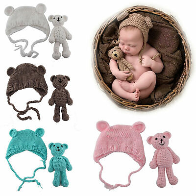 Neugeborenen Baby Fotografie Kostüm Mütze Fotoshooting Häkelkostüm Bär - Häkeln Kostüm