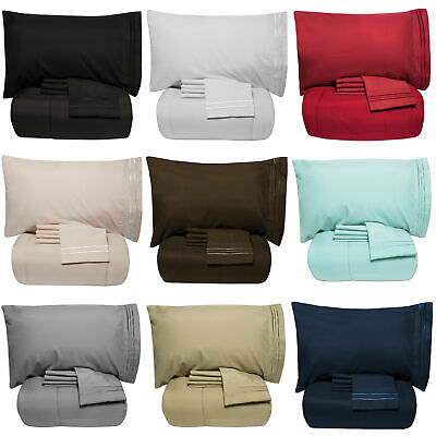 Luxury 5 Piece Bed-In-A-Bag Down Alternative Comforter & Sheet Set 12 Colors ()