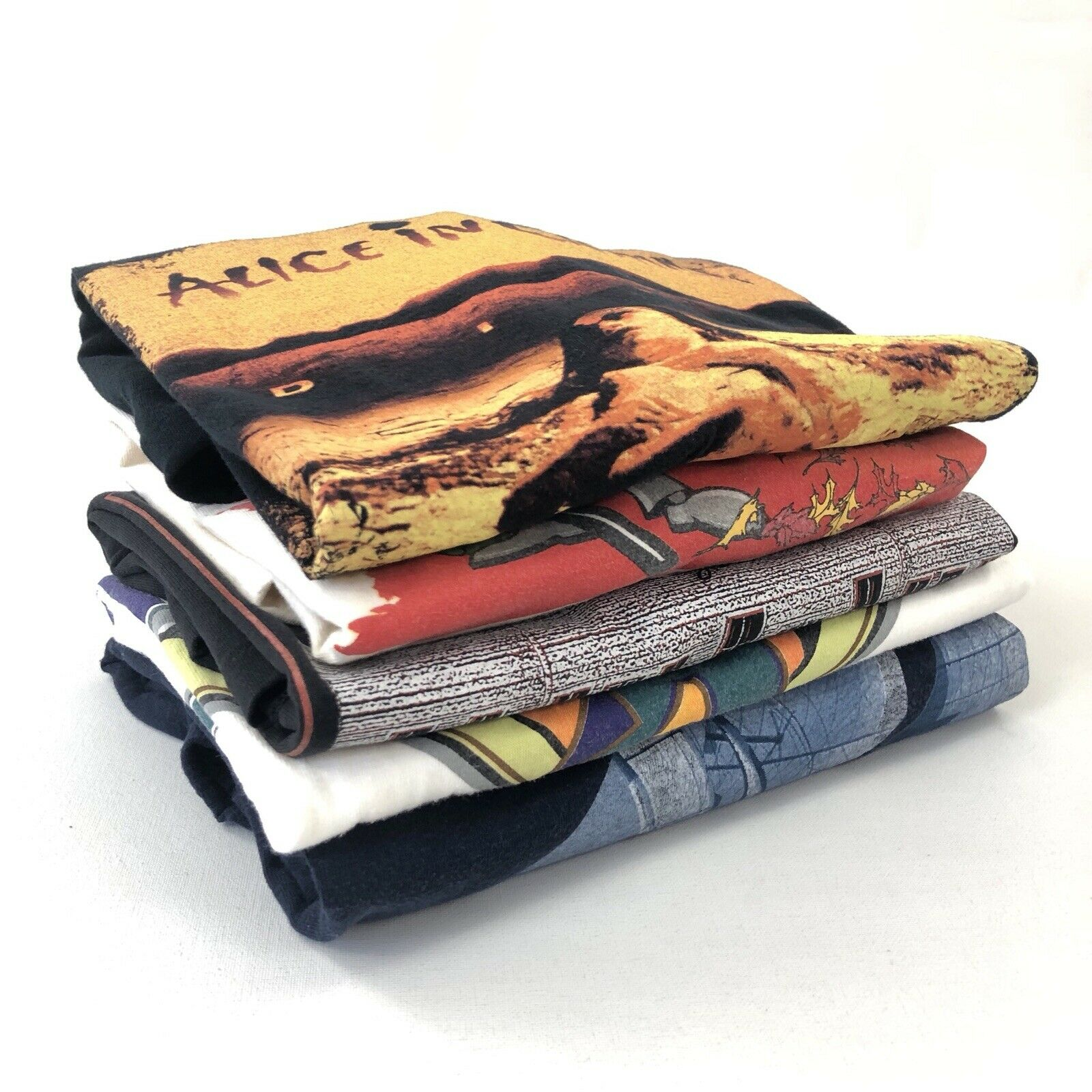 Vintage T-Shirt Lot of 5 Mystery 80s 90s Bundle Single Stitch Wholesale VTG Tees