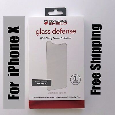 ZAGG InvisibleShield Tempered GLASS Defense Screen Protector HD for iPhone X 10