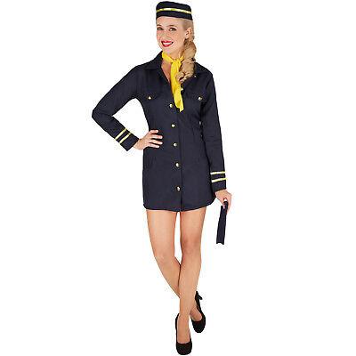 Frauenkostüm Stewardess Flugbegleiter Uniform sexy Flugzeug Pilotin Fasching - Stewardess Sexy Kostüm