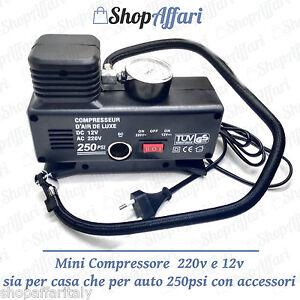 Compressore mini per canotti salvagenti gonfiabili auto for Mini gonfiabili per casa