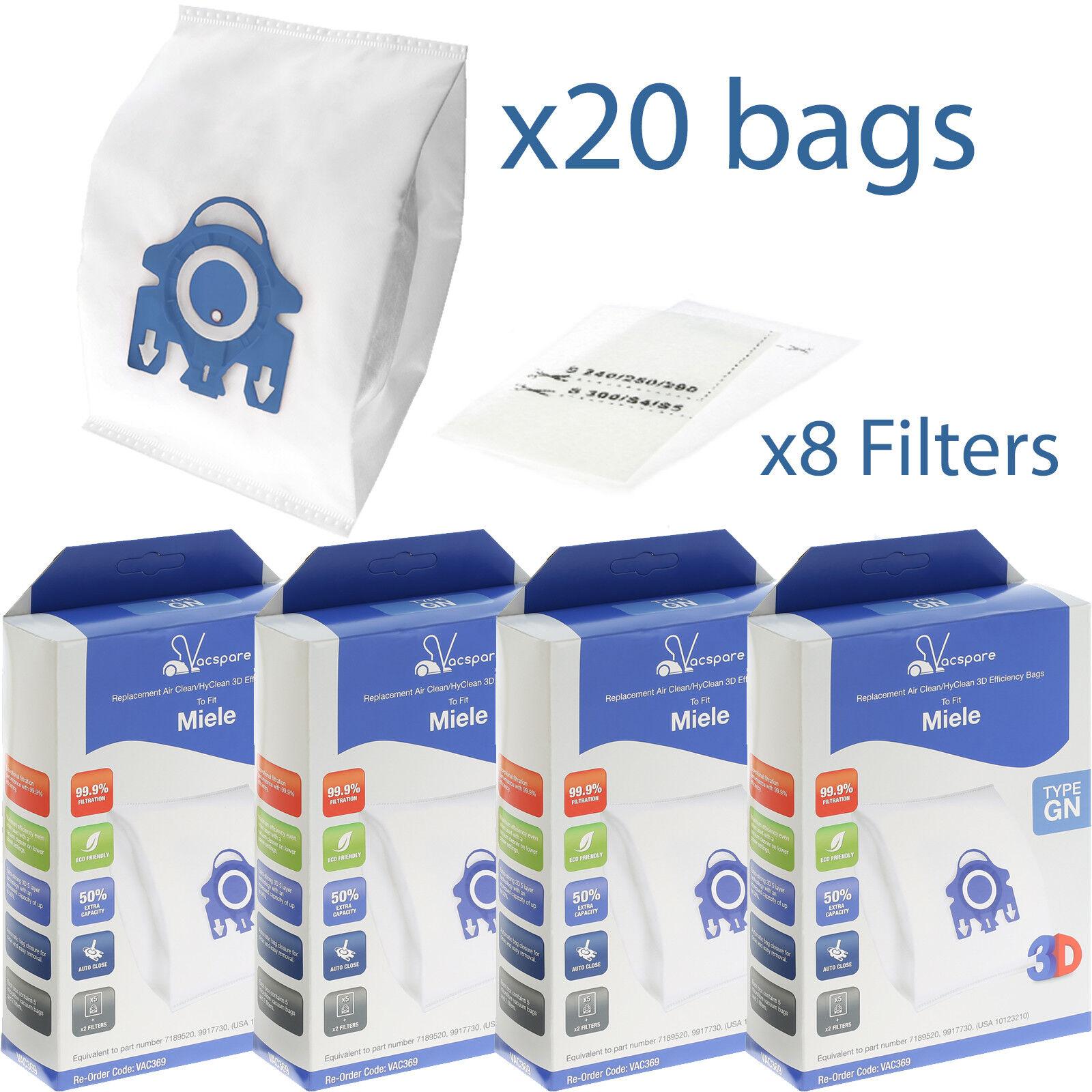 20 sacs pour aspirateur convient pour Miele Ecoline-s2 S 2131