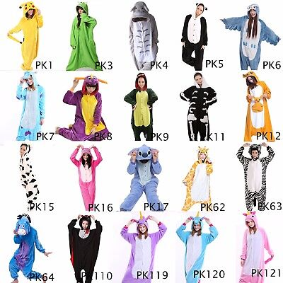 Us Seller Animal Bodysuit Kigurumi Unisex Cosplay Various Costume Sleepwear Pkc1