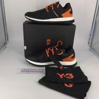 7bd94ea11 Y-3 Pure Boost ZG Sneakers Men s size 12.5 Black Orange Yammamoto RUNS LARGE