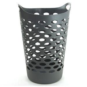 panier linge gris plastique souple bac corbeille vetements sale 60 litres ebay. Black Bedroom Furniture Sets. Home Design Ideas
