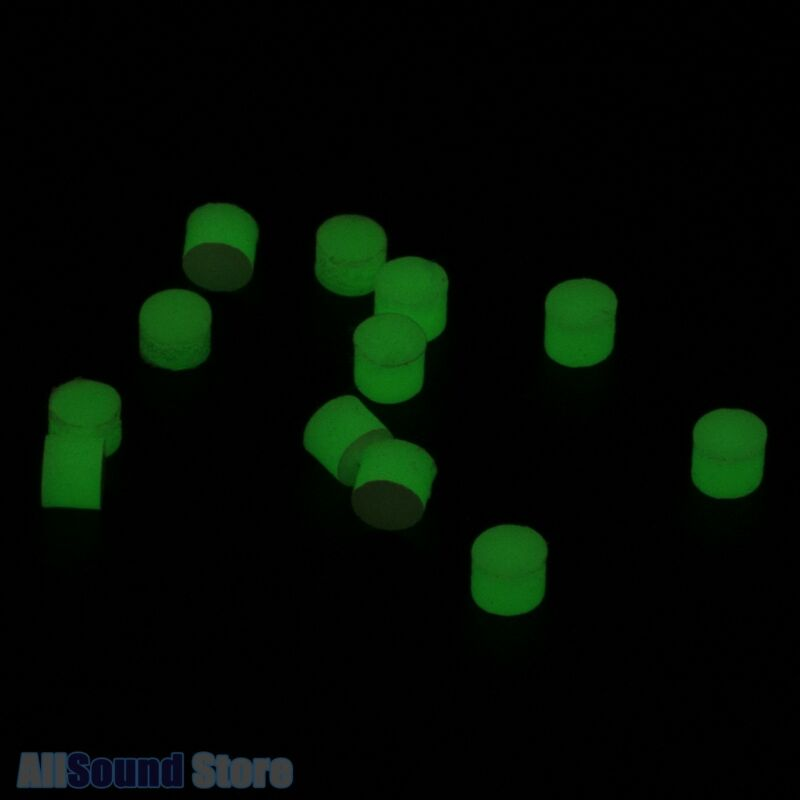 Pack of 12 GLOW IN THE DARK Luminous 2mm Side Dots for Guitar/Bass
