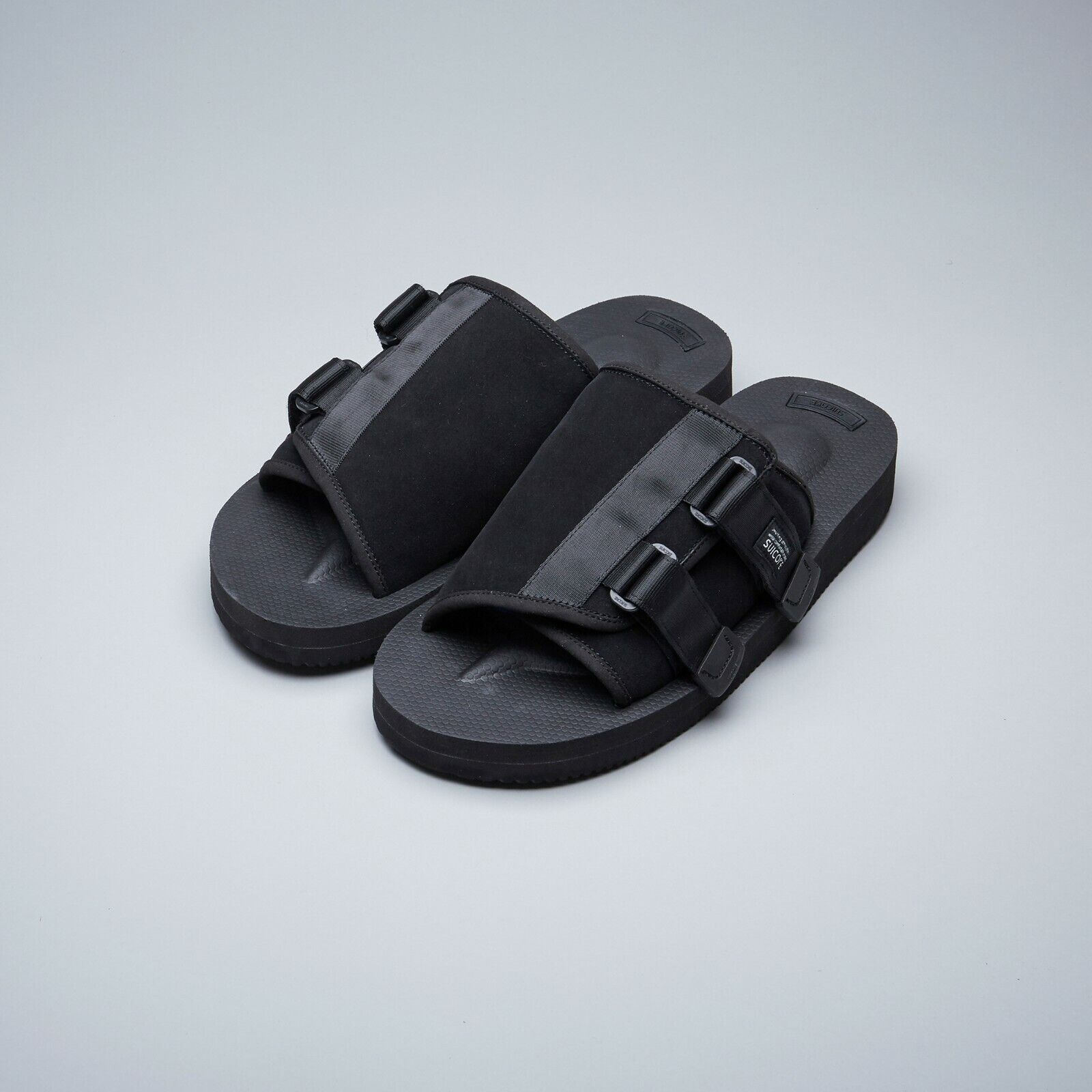 32f77fd335a Suicoke SS19 OG-081VS / KAW-VS Black Vibram Cow Suede Leather Sandals Slides